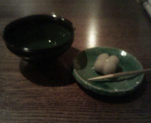 「一保堂」濃茶と生菓子